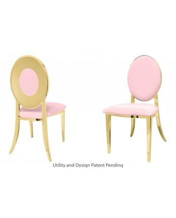 Oz Plus Chair (Gold-Pink)