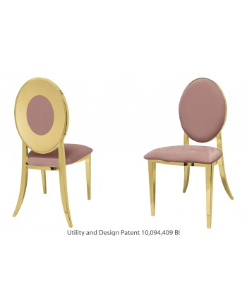 Oz Plus Chair (Gold-Rose Gold)