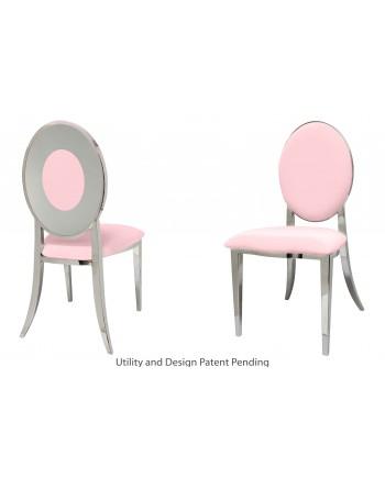 Oz Plus Chair (Silver-Pink)