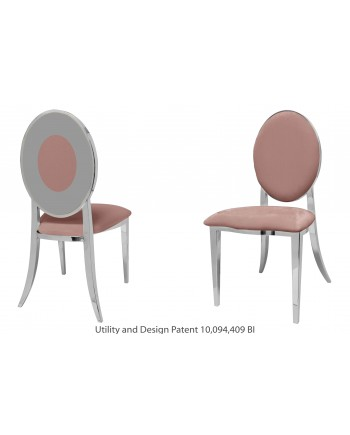 Oz Plus Chair (Silver-Rose Gold)