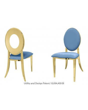 Oz Chair (Gold-Blue)