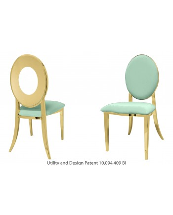 Oz Chair (Gold-Mint)