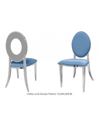 Oz Chair (Silver-Blue)