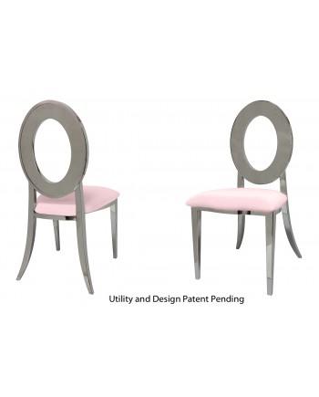 Oz Chair (Silver-Pink)