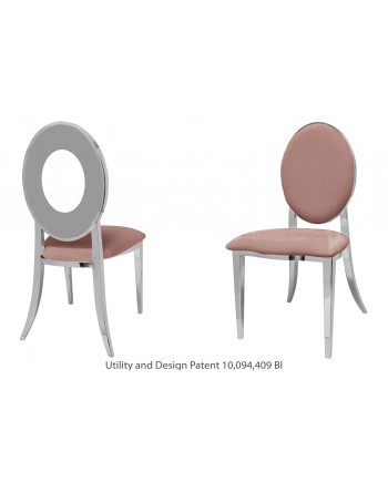 Oz Chair (Silver-Rose Gold)