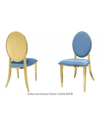 Reflection Chair Round (Gold-Blue)