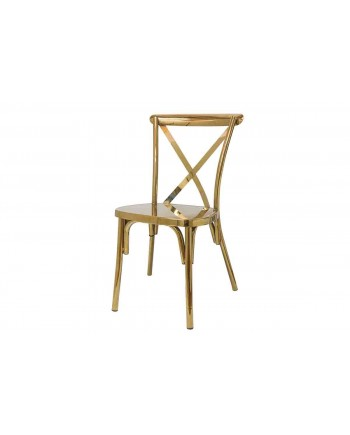Cross Back Chair (Gold)