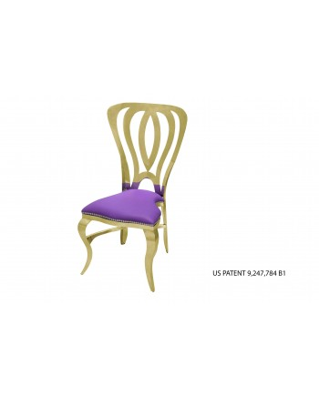 Halexander Chair Gold (Purple)