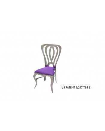 Halexander Chair Silver (Purple)
