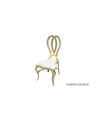Halexandria Chair (Gold-Ivory)