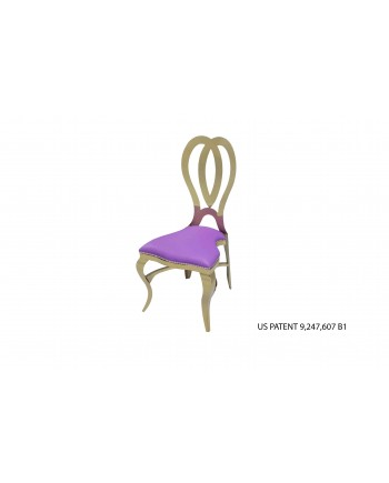Halexandria Chair (Gold-Purple)