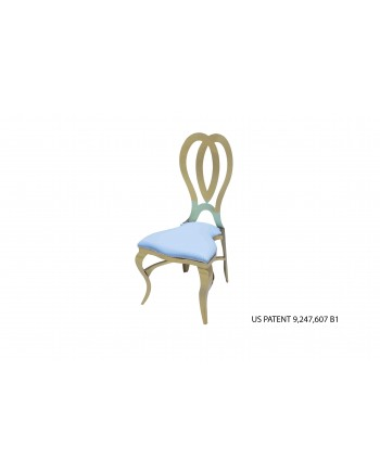 Halexandria Chair (Gold-Turquoise)