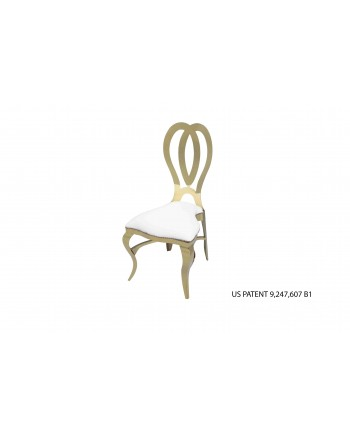 Halexandria Chair (Gold-White)
