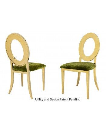 Oz Chair (Gold-Moss)