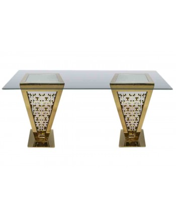 "Reflection Highboy Table Pyramid (Gold) 48"" x 96"""