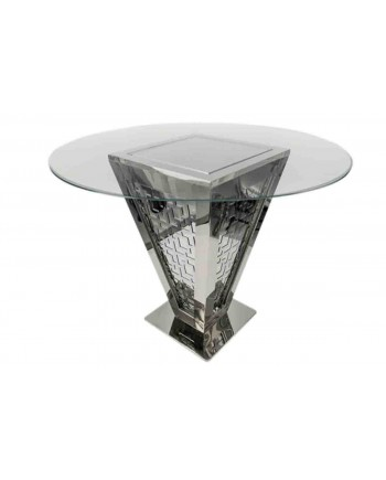 "Reflection Highboy Table Pyramid (Silver) 48"" D"