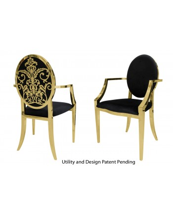 Dior Armchair (Gold-Black)