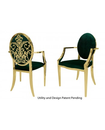 Dior Armchair (Gold-Emerald)