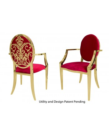 Dior Armchair (Gold-Red)