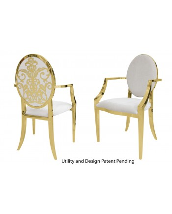 Dior Armchair (Gold-White)