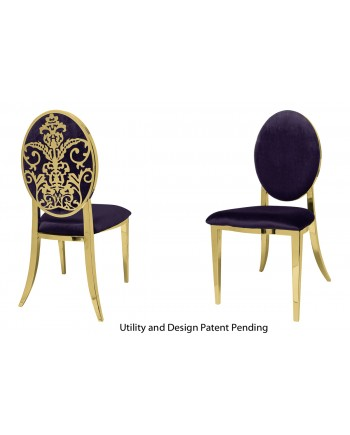 Dior Chair (Gold-Eggplant)