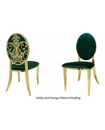 Dior Chair (Gold-Emerald)