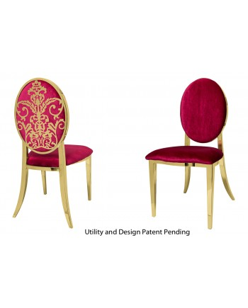 Dior Chair (Gold-Red)
