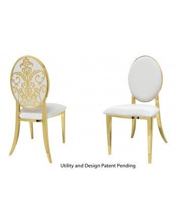 Dior Chair (Gold-White)