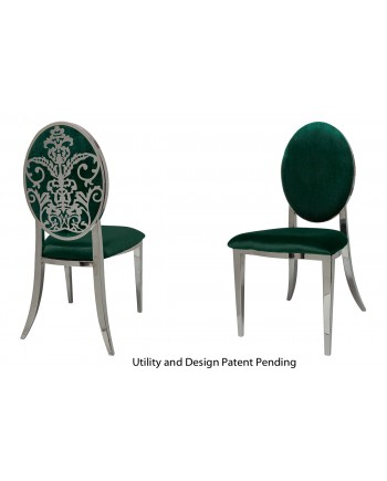 Dior Chair (Silver-Emerald)