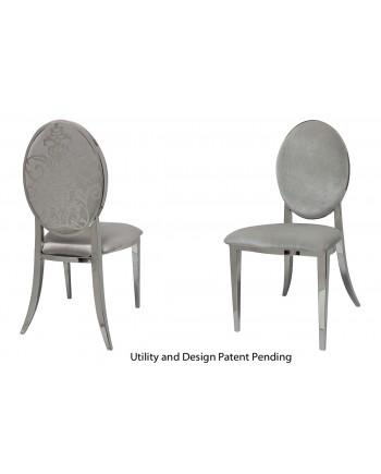 Dior Chair (Silver-Silver)