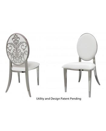 Dior Chair (Silver-White)