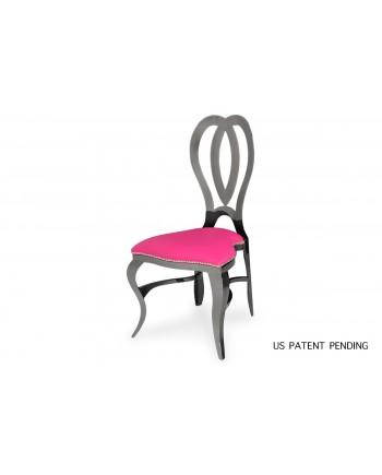 Halexandria Chair (Gun Metal-HotPink)