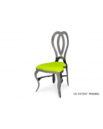 Halexandria Chair (Gun Metal-L.Green)