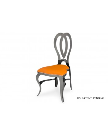 Halexandria Chair (Gun Metal-Orange)