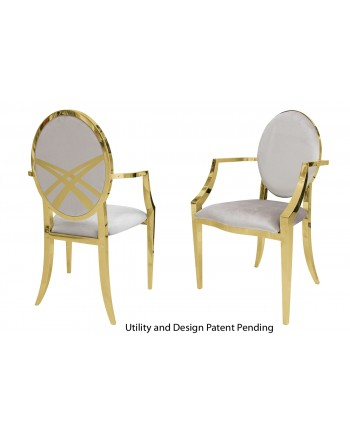 Lasso Armchair (Gold-Silver)