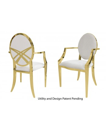 Lasso Armchair (Gold-White)