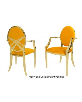 Lasso Armchair (Gold-Yellow)