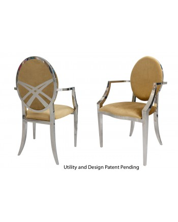 Lasso Armchair (Silver-Gold)
