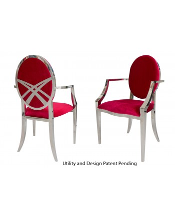 Lasso Armchair (Silver-Red)