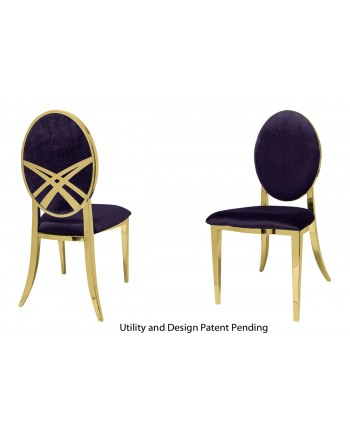 Lasso Chair (Gold-Eggplant)