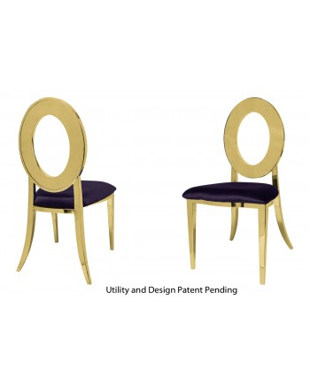 Oz Chair (Gold-Eggplant)