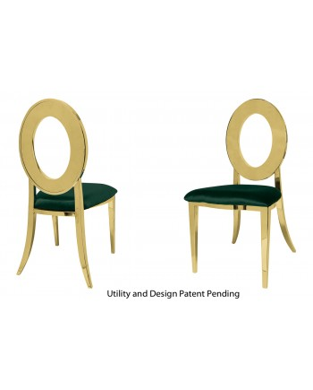 Oz Chair (Gold-Emerald)