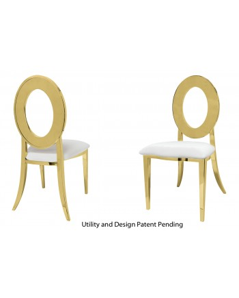 Oz Chair (Gold-White)