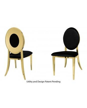 Oz Plus Chair (Gold-Black)