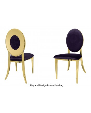Oz Plus Chair (Gold-Eggplant)