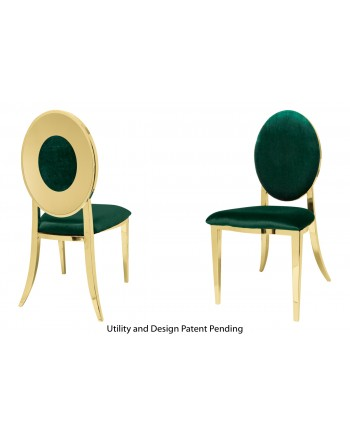 Oz Plus Chair (Gold-Emerald)