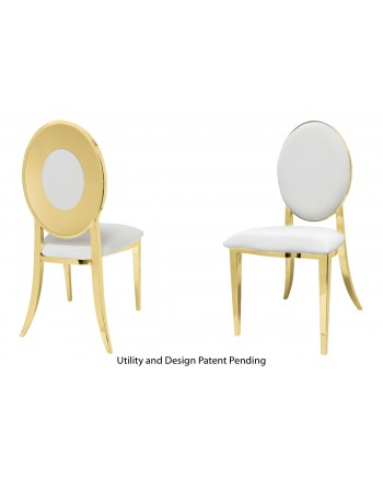 Oz Plus Chair (Gold-White)