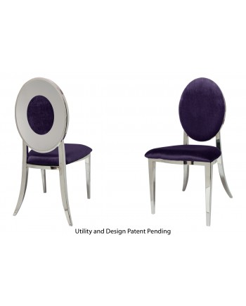 Oz Plus Chair (Silver-Eggplant)
