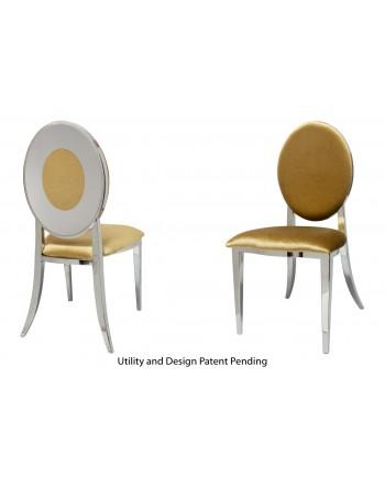 Oz Plus Chair (Silver-Gold)