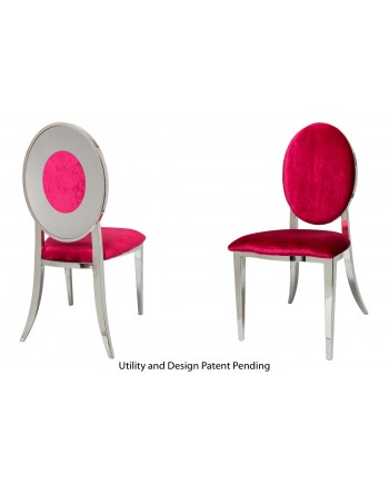 Oz Plus Chair (Silver-Red)
